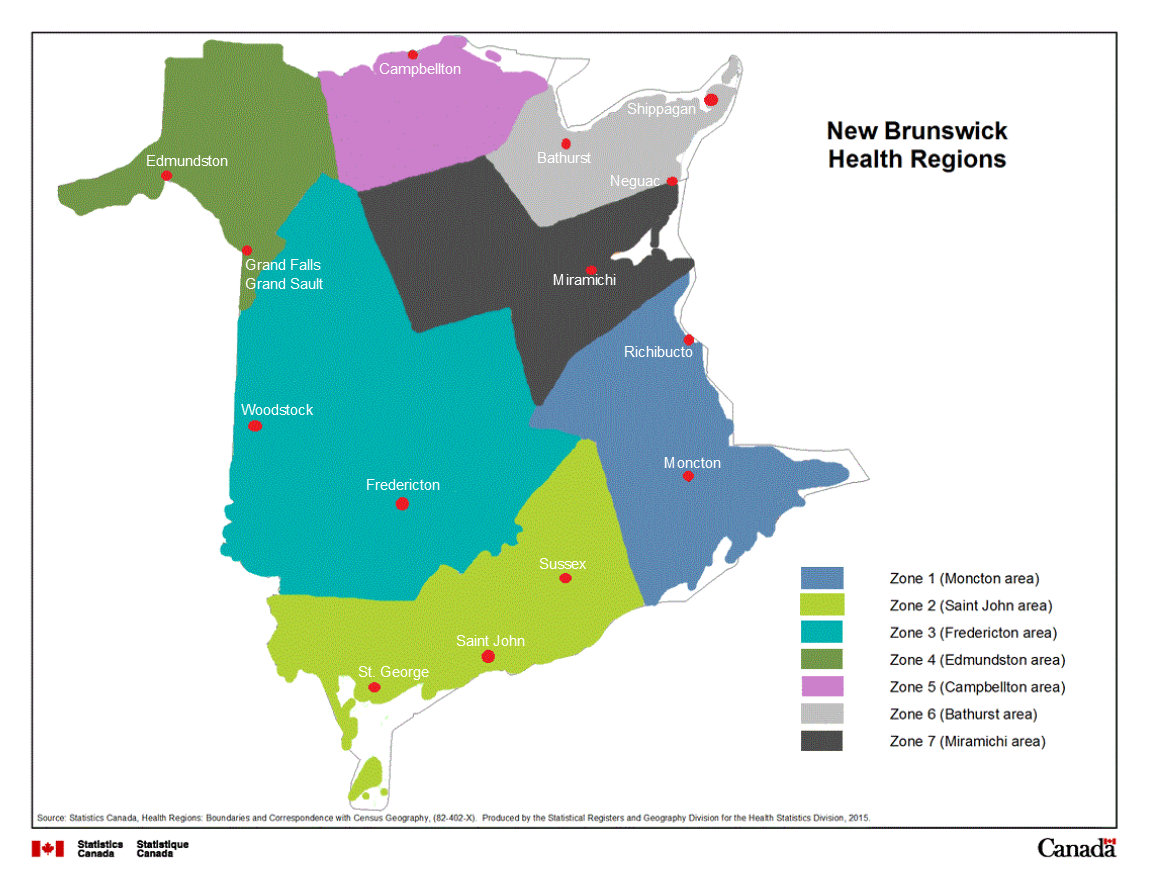 CMHA of NB Regional Zones
