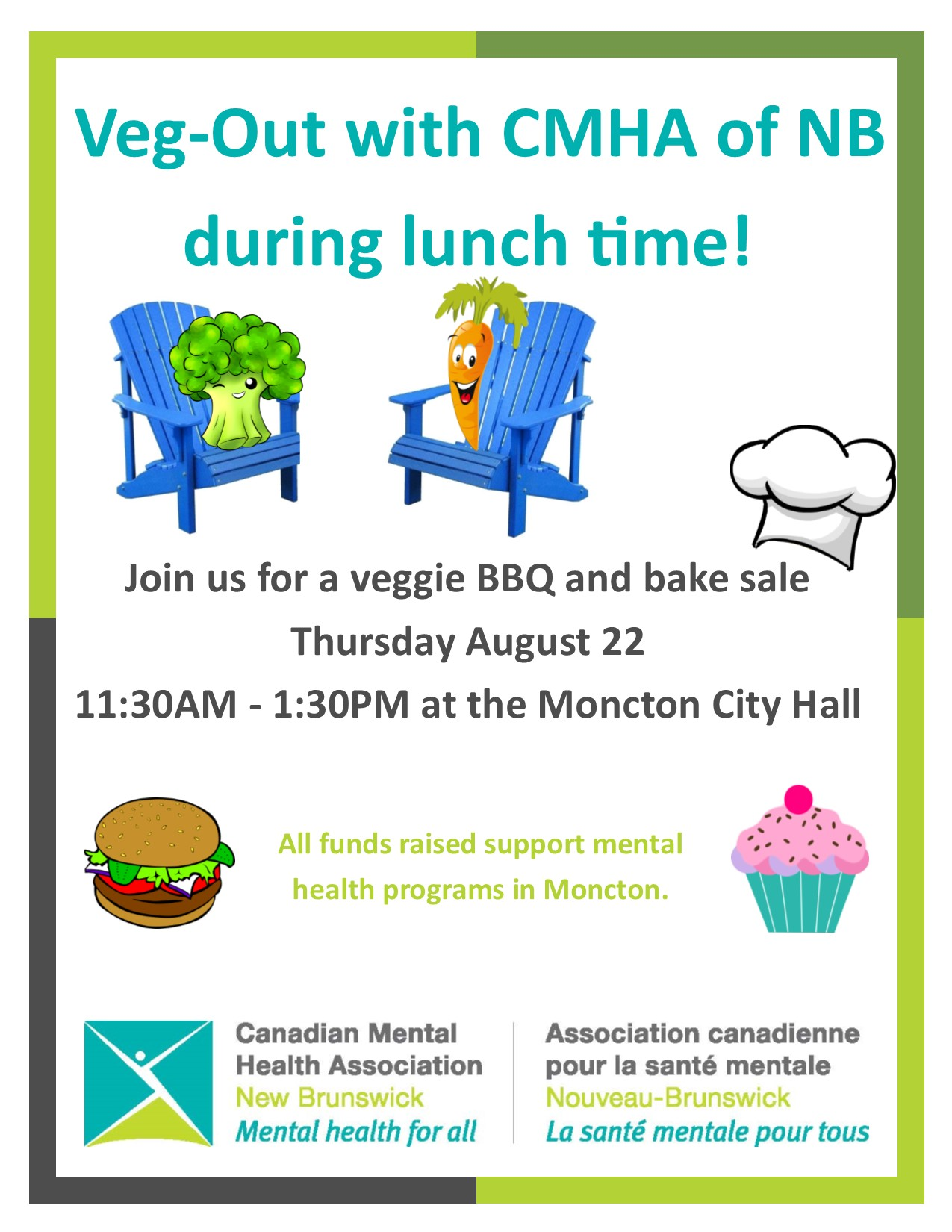 Veg-Out BBQ and Bake Sale (Moncton)
